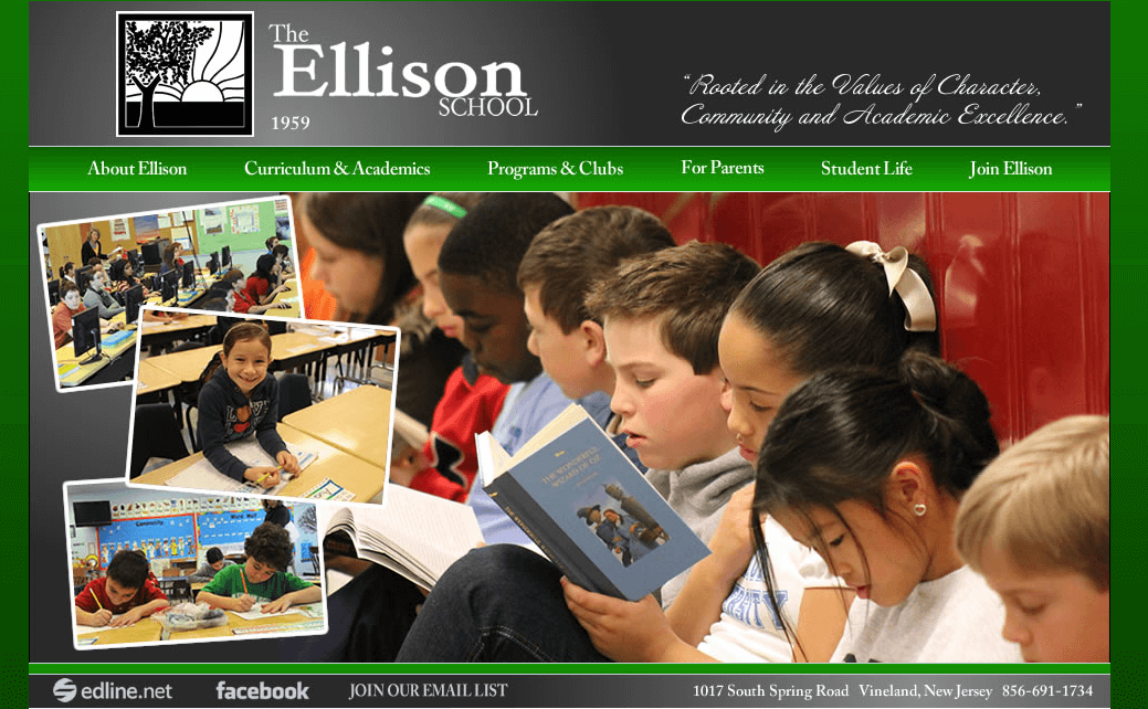 Ellison School Gets A New Website