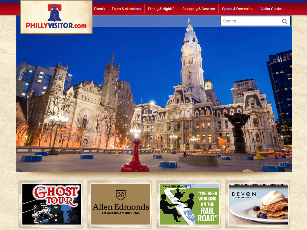 New Mobile Friendly Web Design for PhillyVisitor.com