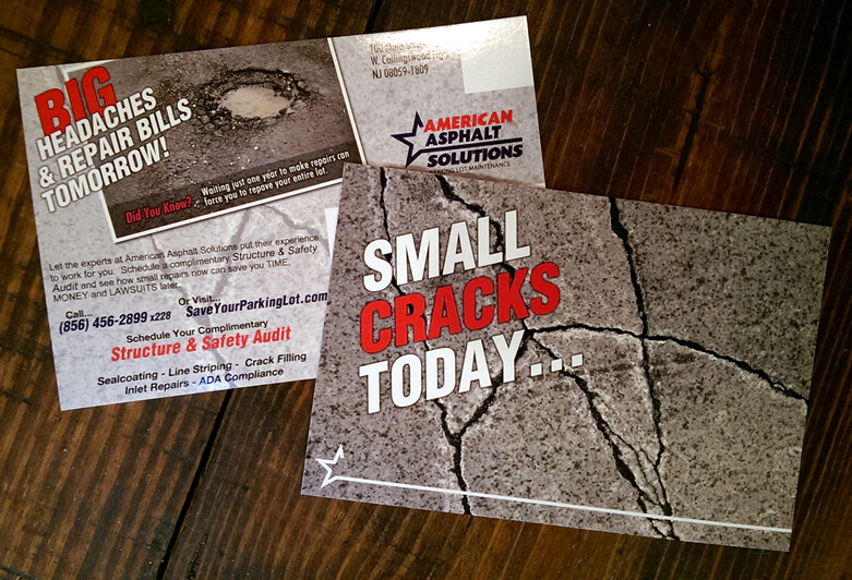 1st of 3 Postcards Sent For American Asphalt Solutions
