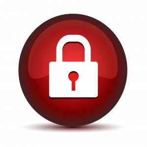 LOCK  ICON red