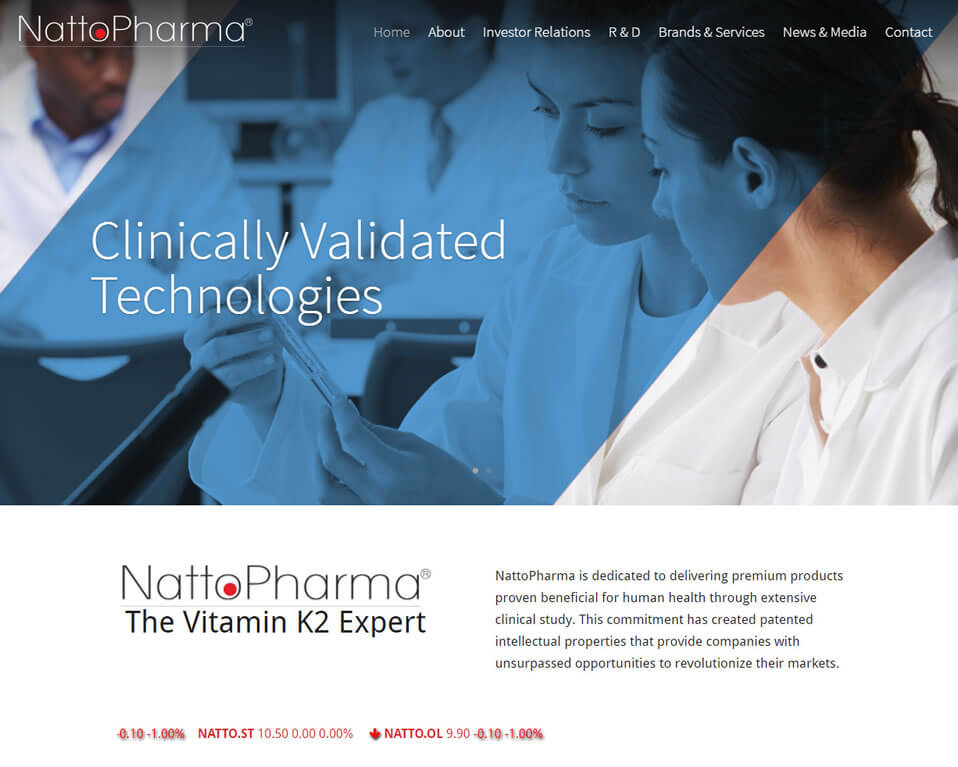 Manna Goes International Launching WordPress Website for NattoPharma