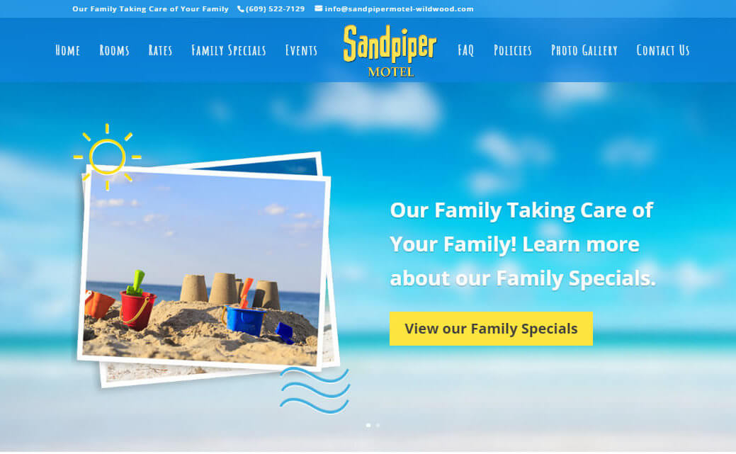 Redesigning a New Jersey Website for Sandpiper Motel of Wildwood, NJ