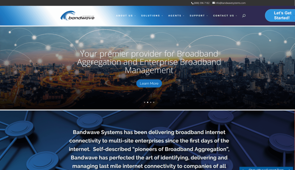 NJ Technology Custom WordPress Website Design Bandwave Systems Manna Group