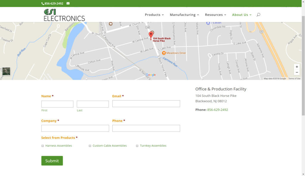 esi electronics new jersey electrical manufacturing website